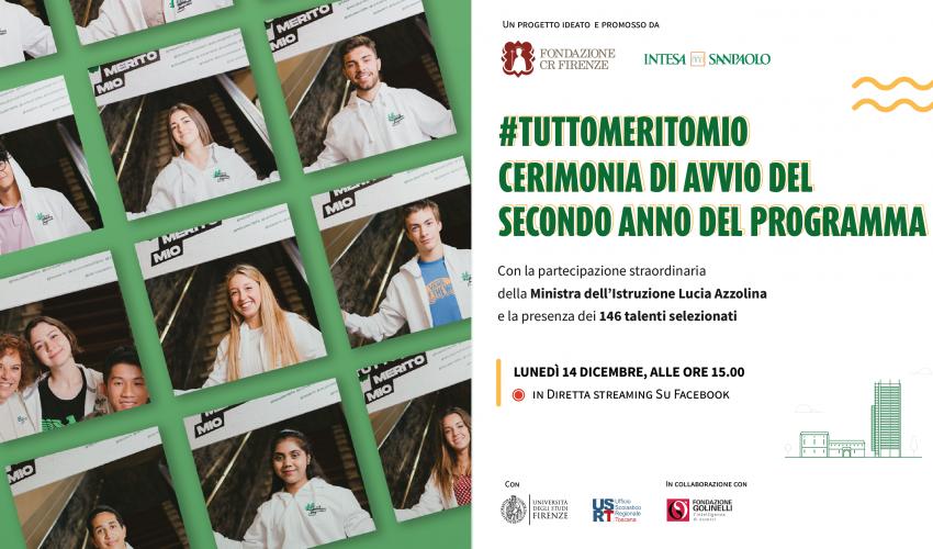 #TuttoMeritoMio – Cerimonia di avvio del secondo anno del programma